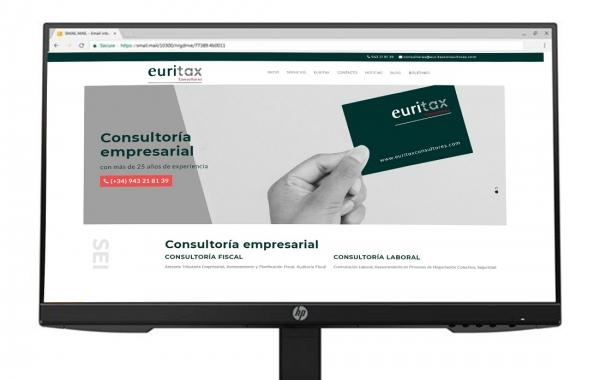 Página Web de Euritax Consultores